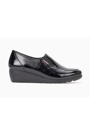 Mephisto Bertrane patent leather black slip-on shoes women