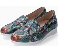 Mephisto Diva leather slip-on shoes for women colour mix