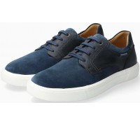 Mephisto Calisto suede lace-up shoe for men blue