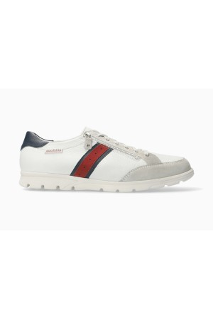 Mephisto Kristof smooth leather lace shoe for men white