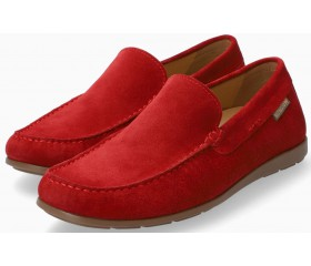 Mephisto Algoras red suede slip-on shoe for men