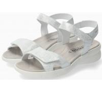Mephisto Elya Women Sandal Nubuck - Silver