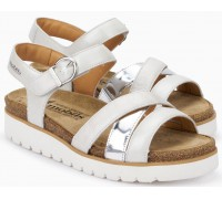 Mobils by Mephisto Thina Women's Sandal Metallic Leather - Wide Fit - White