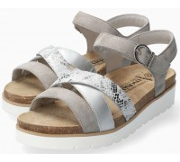 Mobils by Mephisto Thina Women's Sandal Suede - Wide FIt - Grey