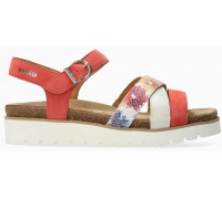 Mobils by Mephisto Thina Women's Sandal Suede - WIde FIt - Coral