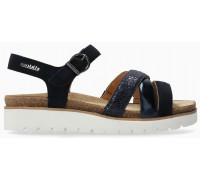 Mobils by Mephisto Thina Women's Sandal Suede - Wide Fit - Blue