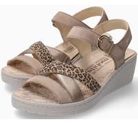 Mephisto Pietra Women Sandal Suede - Light Sand