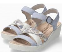 Mephisto Pietra Women Sandal Suede - Blue