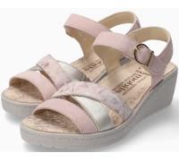 Mephisto Pietra Women Sandal Suede - Pink