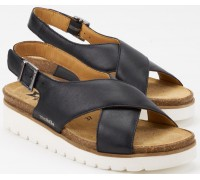 Mobils by Mephisto Tally Women Sandal Smooth Leather - Wide Fit - Blue