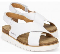 Mobils by Mephisto Tally Women Sandal Smooth Leather - Wide Fit - White