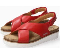 Mobils by Mephisto Tally Women Sandal Smooth Leather - Wide Fit - Red