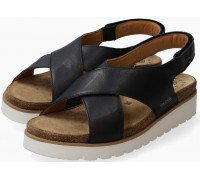 Mobils by Mephisto Tally Women Sandal Smooth Leather - Wide Fit - Black