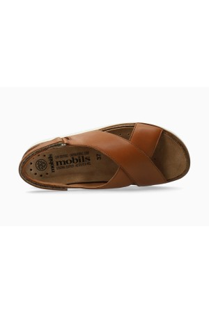 Mobils by Mephisto Tally Women Sandal Smooth Leather - Wide Fit - Brown