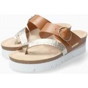 Mephisto Vik Women Sandal Smooth Leather - Gold