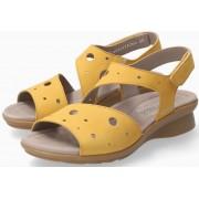 Mephisto Phiby Perf Women Sandal Nubuck - Yellow