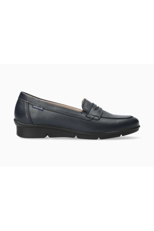 Mephisto Diva smooth leather slip-on shoes for women blue