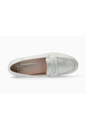 Mephisto Diva smooth leather slip-on shoes for women silver