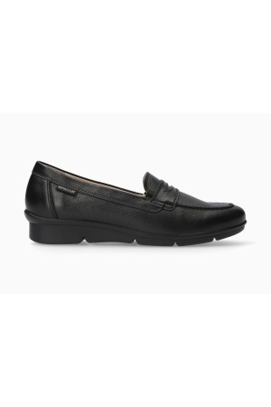 Mephisto Diva smooth leather slip-on shoes for women black