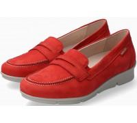 Mephisto Diva nubuck leather slip-on shoes for women red