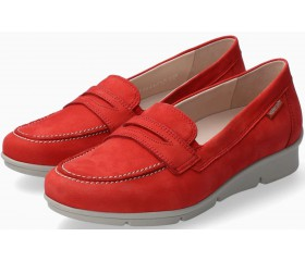Mephisto Diva nubuck leather slip-on shoes for women red