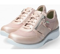 Sano by Mephisto Izae Smooth Leather Sneaker for Women - Wide Fit - Pink