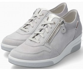 Mobils by Mephisto Tulia Suede Sneaker for Women - Wide Fit - Grey