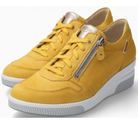 Mobils by Mephisto Tulia Suede Sneaker for Women - Wide Fit - Yellow