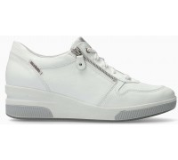Mobils by Mephisto Tulia Smooth Leather Sneaker for Women - Wide Fit - White