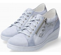 Mobils by Mephisto Patsy Shiny Suede Sneaker for Women - Wide Fit -  Blue