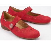 Mobils by Mephisto Fabienne red nubuck shoe