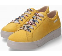 Mephisto Fanya Silk Suede Yellow Lace-Up Shoe for Women