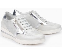 Mobils by Mephisto PATRIZIA white leather lace shoe for women with WIDE FEET