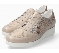 Mephisto Gladice beige leather suede lace shoe for women
