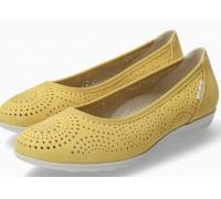 Mephisto Elsie Perf nubuck ballet pumps for women Yellow