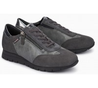 Mephisto Donia Grey Suede Lace-Up Shoes For Women