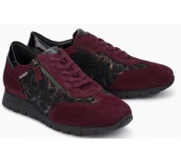 Mephisto Donia Red Suede Lace-Up Shoes For Women