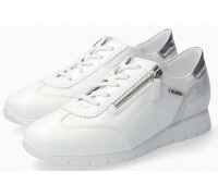 Mephisto Donia White Leather Lace-Up Shoes For Women