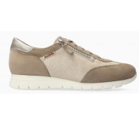 Mephisto Donia Beige Suede Lace-Up Shoes For Women