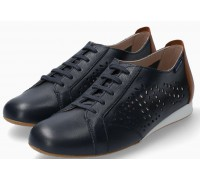Mephisto Belisa leather laceshoe for women blue
