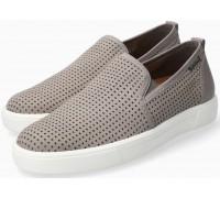 Mephisto Cliff grey nubuck slip-on shoe for men