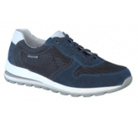 Mephisto Boris Perf leather sneakers for men blue