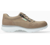 Mephisto Alek leather sneakers for men taupe