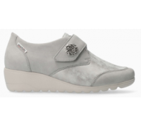 Mephisto Branda leather grey shoe with velcro strap