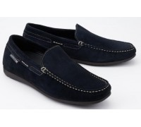 Mephisto Algoras blue suede slip-on shoe for men