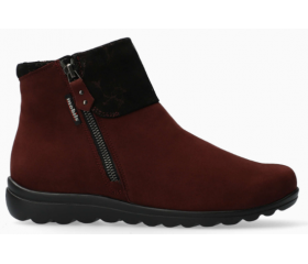 Mobils by Mephisto Catalina Suede Ankle Boots Women - Wide Fit - Red