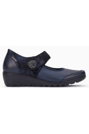 Mephisto Bathilda leather blue pumps women