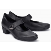 Mephisto Isora leather black pumps women