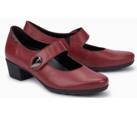 Mephisto Isora leather red pumps women