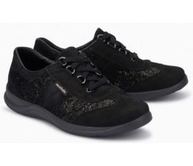 Mephisto Liria black leather lace-up shoe women